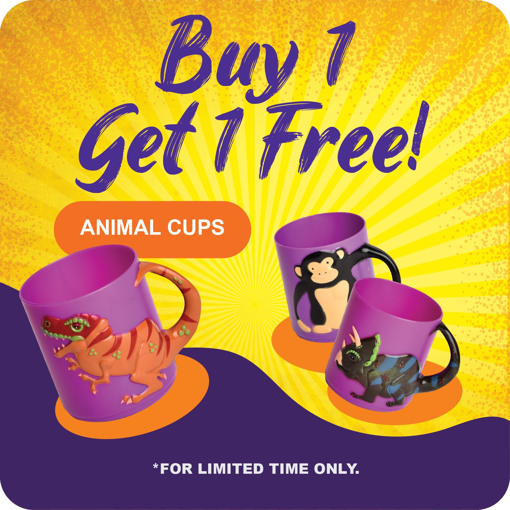 Curiosity Shop June Promotion - Animal Cup